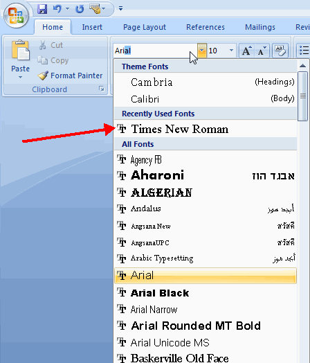 how to download fonts for microsoft word 2007 free