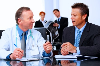 Business group and doctor