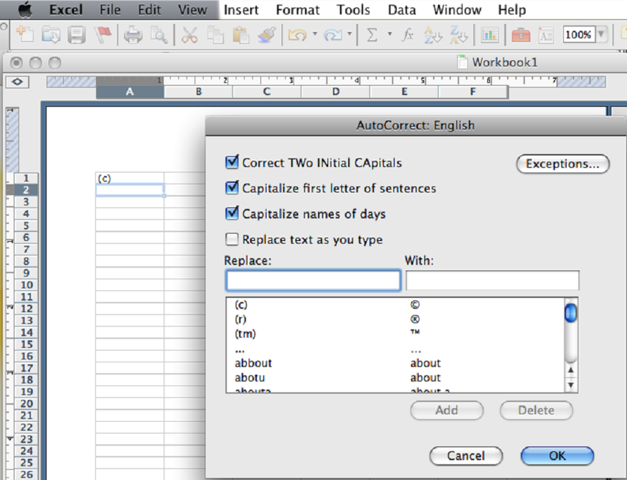Stop Excel From Autocorrecting Words Learnthat Free Tutorial