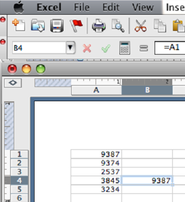 how to make a cell reference itself in excel 2013